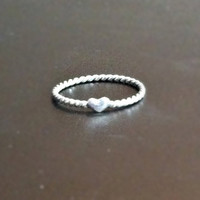 Love Ring  Heart  Sterling Silver by CopperfoxCreation on Etsy