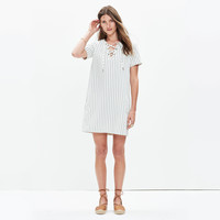 HARBOR LACE-UP SHIFT DRESS