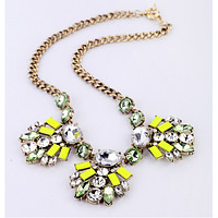 Sweet Lime Statement Necklace