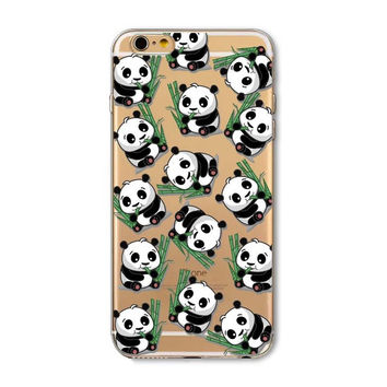 For iPhone 7 Case Cute Owl Panda Elephant Cat Animals Soft TPU Case For Cover iPhone 5S 5 SE 6 6S 7 Plus Transparent Phone Cases -0327