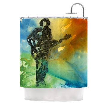 "Josh Serafin ""Rhythm"" Guitar Player Shower Curtain"
