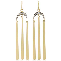 18K Gold Diamond Tasseled Earrings | Moda Operandi
