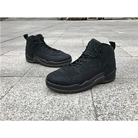 Air Jordan Retro 12 Ovo Black Basketball Sports Retro 12s For Sneakers Athletic Shoe | Best Deal Online