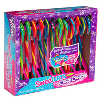 Wonka SweeTarts Candy Canes: 12-Piece Box