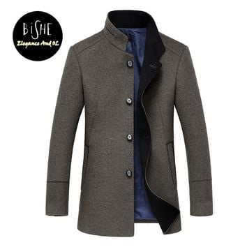 High Quality Winter Wool Coat Men Slim Fit Jacket Mens Fashion Outerwear Warm Male Casual Jackets Overcoat Woolen Pea Coat 3XL