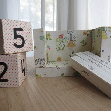 Perpetual Wooden Block Calendar - Girls Dress Sewing Pattern