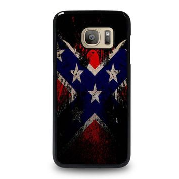 browning rebel flag samsung galaxy s7 case cover  number 1