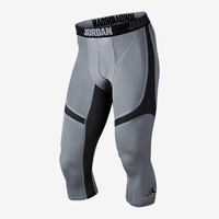 The Air Jordan Stay Cool Compression 3/4 Men's Basketball Tights.