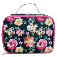 Canvas Lunch Bag | Navy Floral