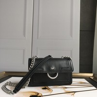 Kuyou Gb69729 Pinko Women¡¯s Mini Love Bag In Caviar Leather With Inlays Black Should Bag Picture Size 21-16-6cm