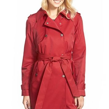 Women's DKNY Double Breasted Trench Coat,