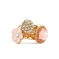 Stackable Blossom Ring Set: Charlotte Russe