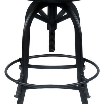 Classic Home Akron Round Reclaimed Pine & Iron Bar Stool | Nordstrom