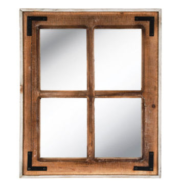 Paneled Window Wood Wall Mirror | Hobby Lobby | 1664390