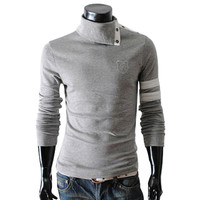 Long Sleeves Turtle Neck Slim Fit Pullover Knit Sweater
