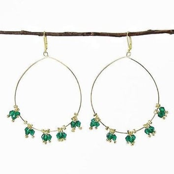 Delicate Droplet Earrings in Teal - WorldFinds