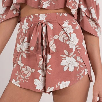 Lily Floral Printed Shorts