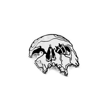 Crushed Skull Pin (silver or gold)