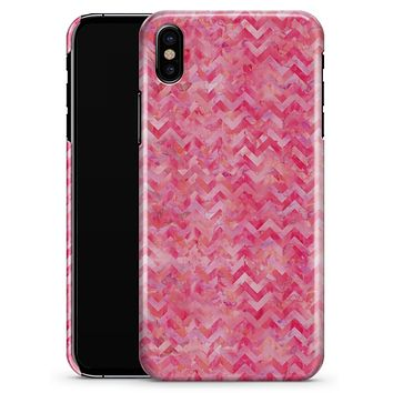 Pink Basic Watercolor Chevron Pattern - iPhone X Clipit Case