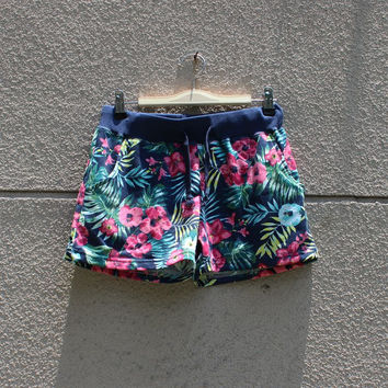 Floral Printed Cotton Sports Beach Shorts