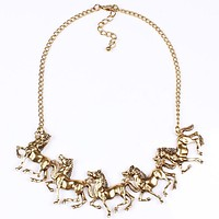 Making a Statement and That Statement is HORSES Statement Necklace