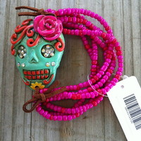 Sugar Skull bracelet from PeaceLove&Jewels