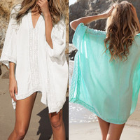 V-neck Bikini Beach Swimwear/Bathing Suit Cover Up