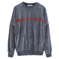 Hot letters thickness sweater Grey