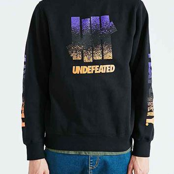 Undefeated Splatter Crew Neck Sweatshirt- Black