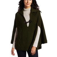 Sanctuary Clothing Women's Cable Poncho Sweater