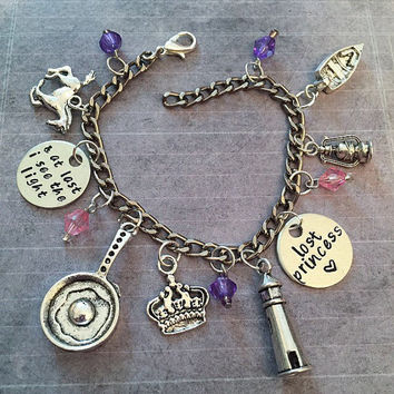 And At Last I See The Light Charm Bracelet - Fairytale Jewelry - Once Upon A Time Jewelry - Princess Jewelry - Rapunzel Inspired Jewelry