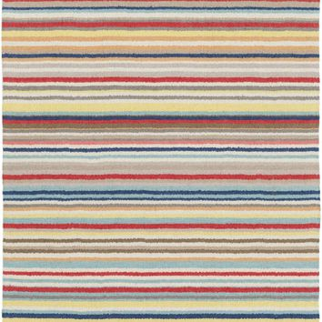 Shiloh Striped Area Rug Red, Yellow