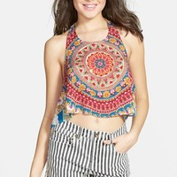 Junior Women's Billabong 'Festival Vibes' Woven Halter Top,