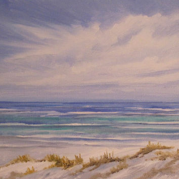 Water's Edge Seascape Beach Ocean Original Oil Painting
