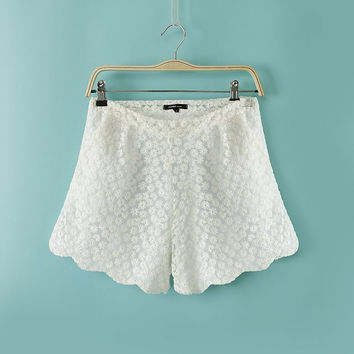 Sunflowers Lace Shorts
