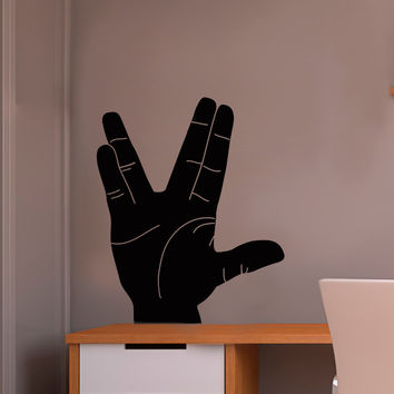 Live Long and Prosper Hand Sign Silhouette