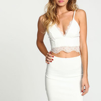 IVORY EYELASH LACE SKIRT