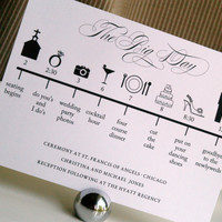 Custom DIY Printable Wedding Timeline by GraceWarrenDesigns
