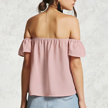 Boxy Off-the-Shoulder Top