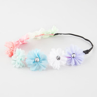 Full Tilt Multicolor Chiffon Flower Headband Multi One Size For Women 26527495701