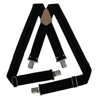95013 - 2 Inch Wide Padded Work Suspenders with Clips in Black | Style n Craft