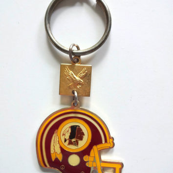Vintage Washington Redskins Helmet Keychain 1988