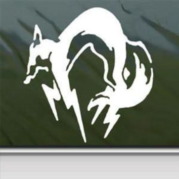 Metal Gear Fox Sticker Decal Kojira Foxhound Snake for Car Window Wall Macbook Notebook Laptop