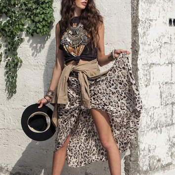 Wild Ones Knotted Skirt - Dust