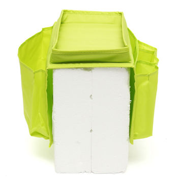 Top Selling 5 Pockets Sofa Chair Settee Couch Table Top Arm Rest Organizer Tray Hanging Storage Bag Green