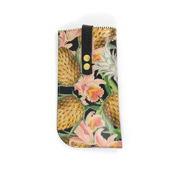 Leather Sunglasses Case - Tropical No.2