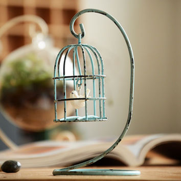 Cage Weathered Creative Pastoral Style Home Decoration Home Decor = 5893761729