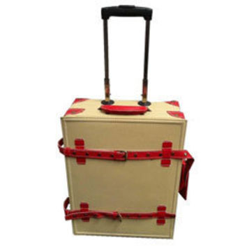 La Vida Cream Vintage-look 2-piece Carry-On Luggage Set | Overstock.com