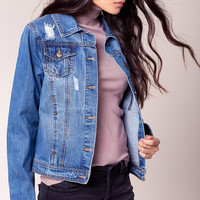 Lyla Distressed Denim Jacket