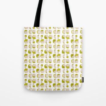 Eating process (Apple) // watercolor apple consumption Tote Bag by Camila Quintana S